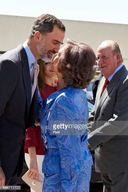 King Felipe VI of Spain Queen Letizia of Spain Queen Sofia and King Juan Carlos attend the 40th anniversary of Reina Sofia Alzheimer Foundation on...