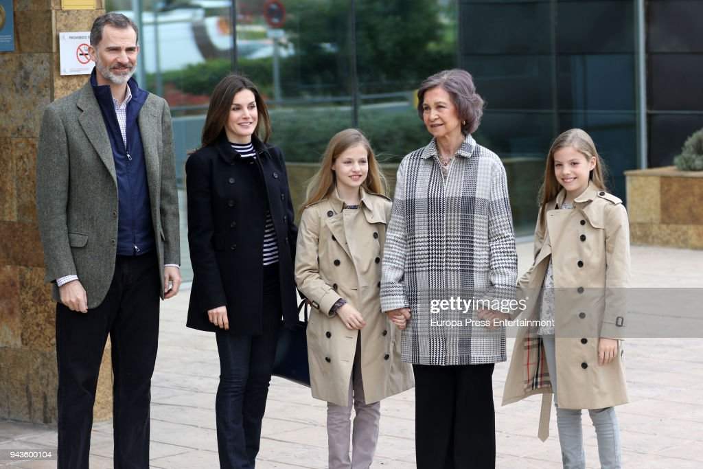 Spanish Royal Family Visits King Juan Carlos At Hospital : News Photo