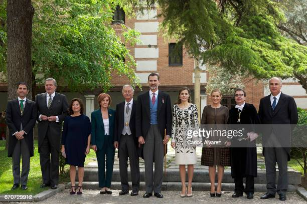 King Felipe VI of Spain Queen Letizia of Spain Spanish author Eduardo Mendoza Ana Soler Spanish Culture Minister Inigo Mendez de Vigo Spanish Vice...
