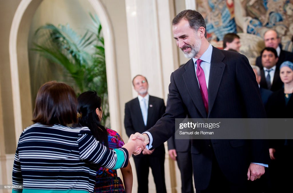 King Felipe of Spain Attend Audiences At Zarzuela Palace