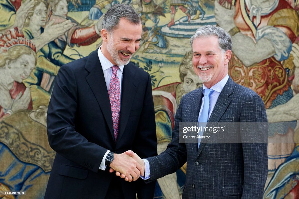 ESP: King Felipe Of Spain Meets CEO Of Netflix, Mr Reed Hastings