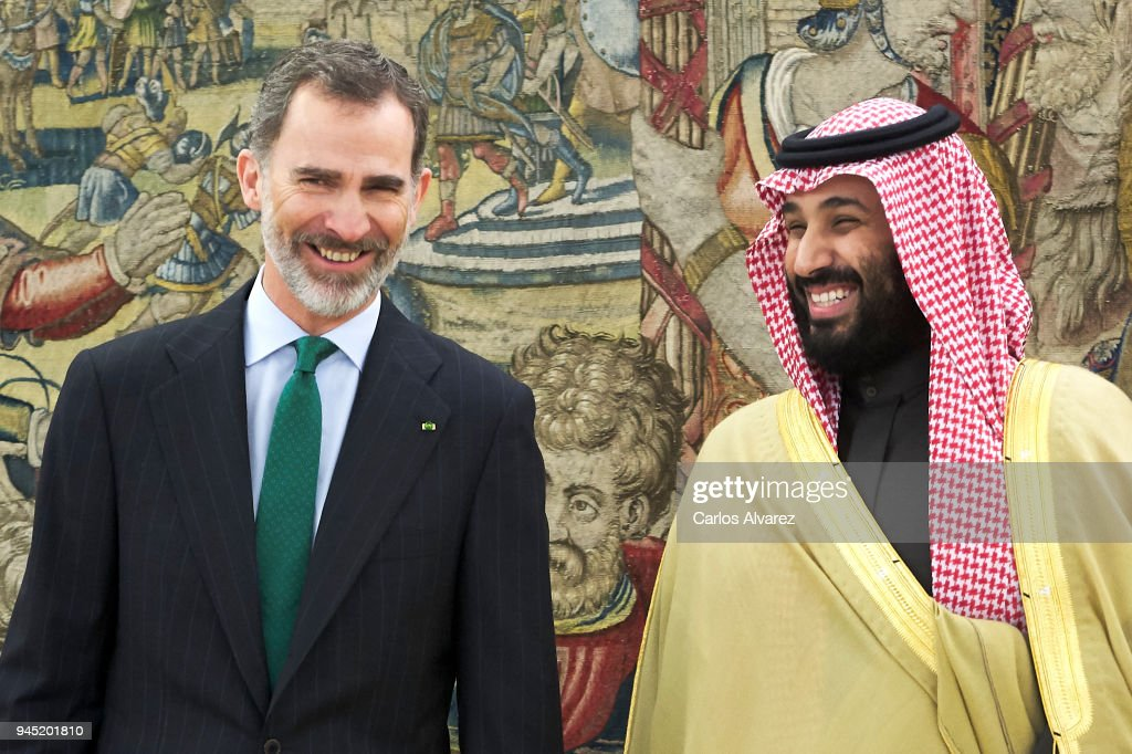 King Felipe of Spain Receives Crown Prince of Saudi Arabia