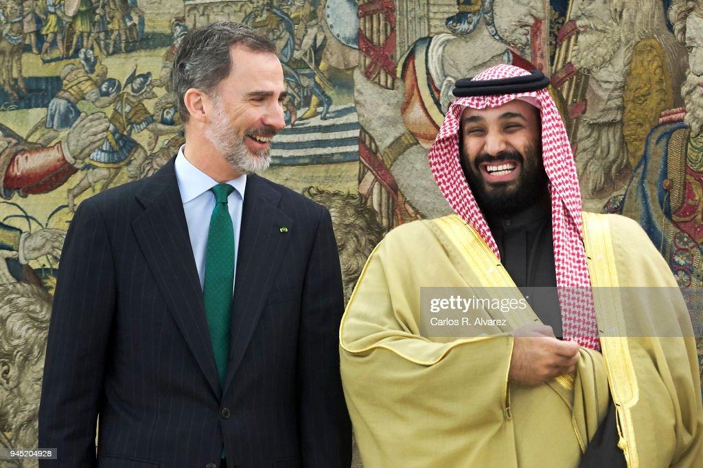 King Felipe of Spain Receives Crown Prince of Saudi Arabia