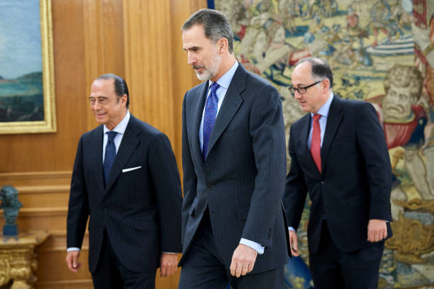 ESP: King Felipe Of Spain Meets Presidents Of IAG And Iberia