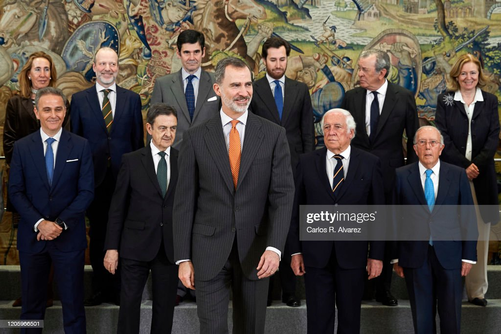 King Felipe Of Spain Attends Audiences At Zarzuela Palace : Fotografía de noticias