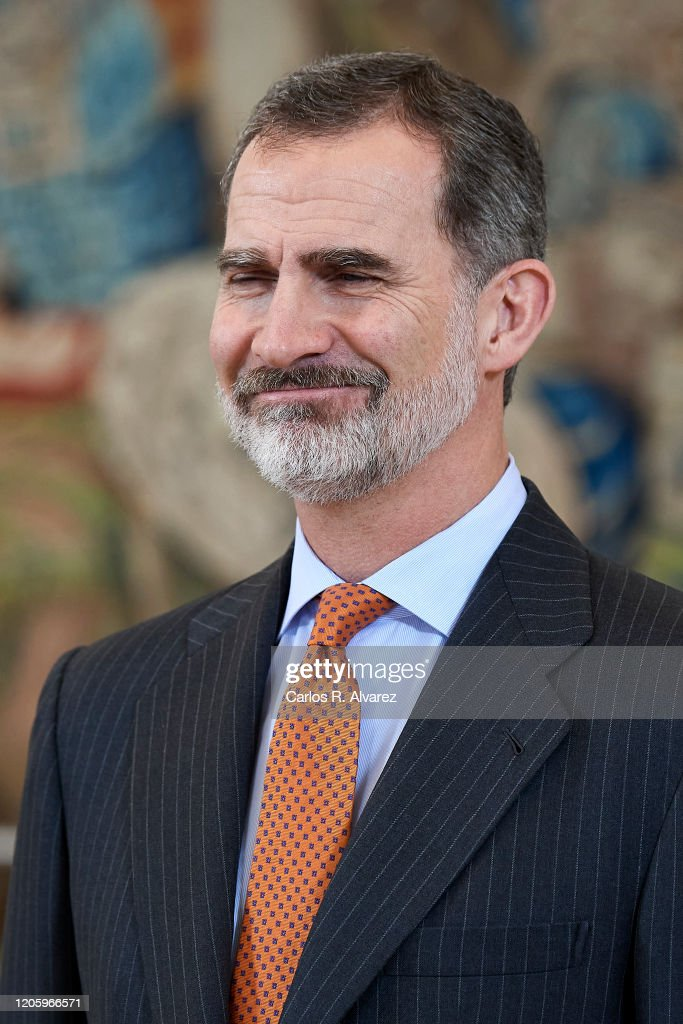 King Felipe Of Spain Attends Audiences At Zarzuela Palace : News Photo