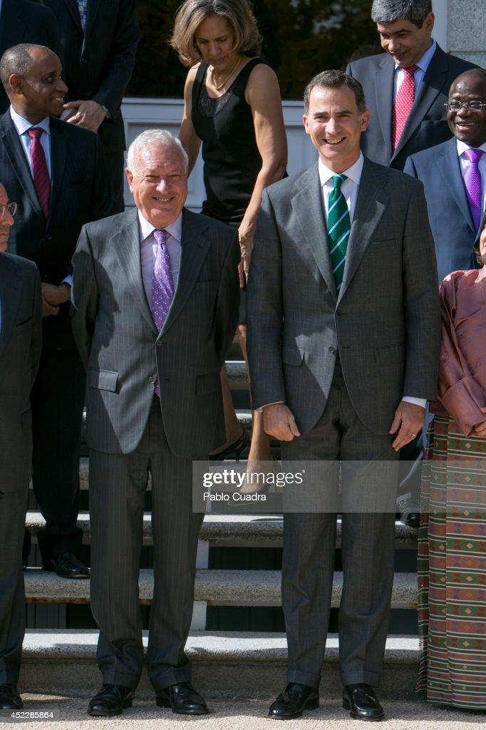 King Felipe VI of Spain Receives Permanent Ambassadors Of United Nations