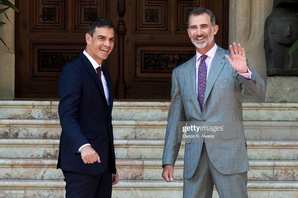 King Felipe VI Of Spain Receives Prime Minister Pedro Sanchez