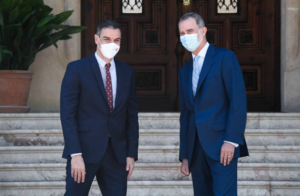 ESP: King Felipe Of Spain Meets President Pedro Sanchez At Marivent Palace
