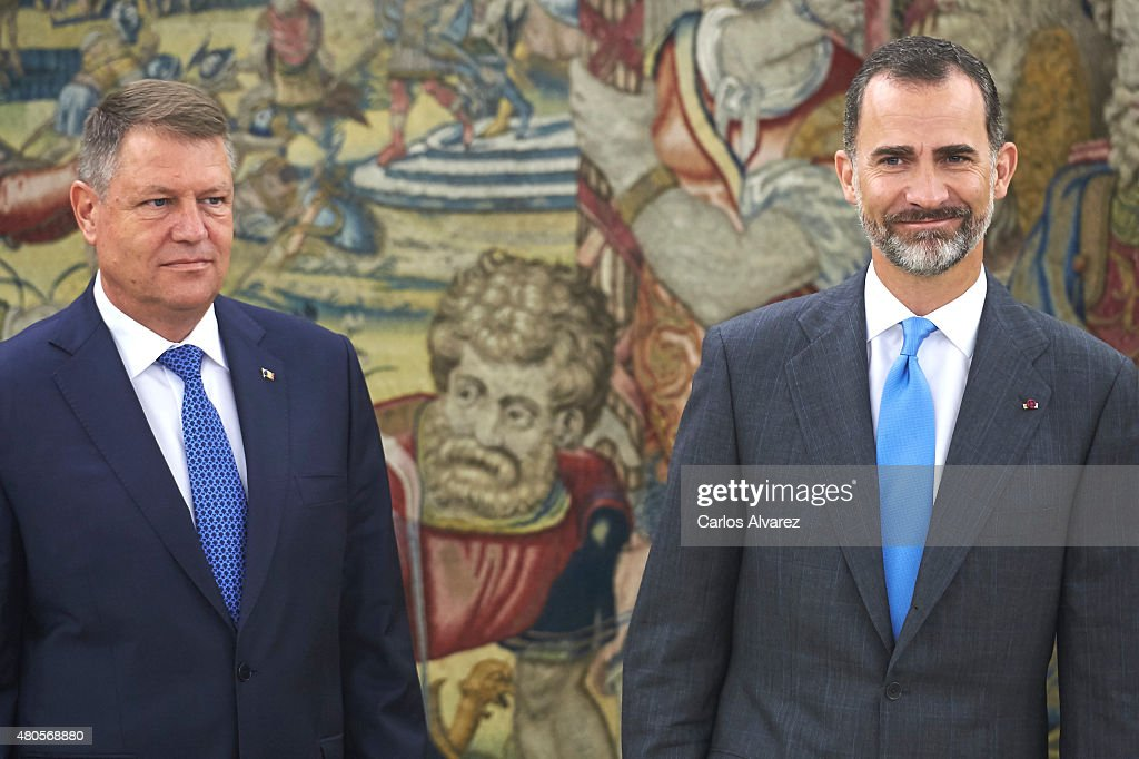 King Felipe VI of Spain Meets President of Romania