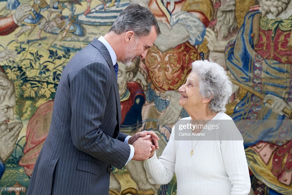 ESP: King Felipe of Spain Receives Survivor Of The Holocaust, Anette Cabelli