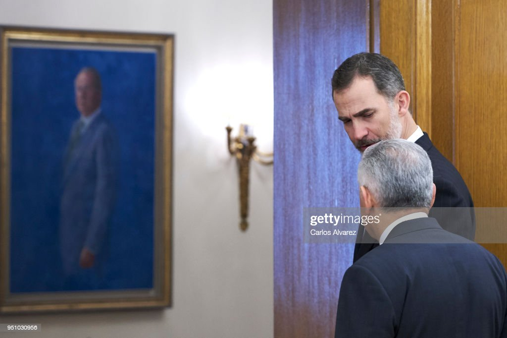 King Felipe Of Spain Meets The Prime Minister Of Turkey