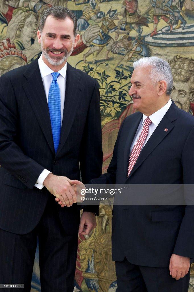 King Felipe Of Spain Meets The Prime Minister Of Turkey