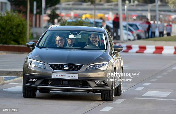 King Felipe VI of Spain Spanish Minister for Industry Jose Manuel Soria and President of Catalonia Artur Mas visit the SEAT Factory on December 5...