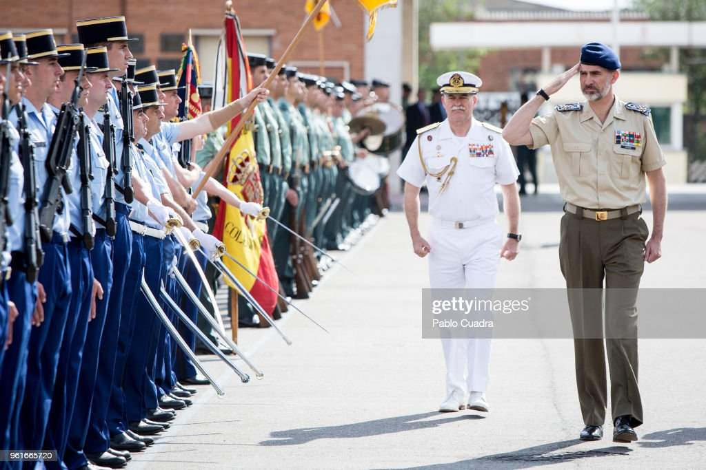 King Felipe Of Spain Visits The School Of Youth Guards 'Duque de Ahumada'