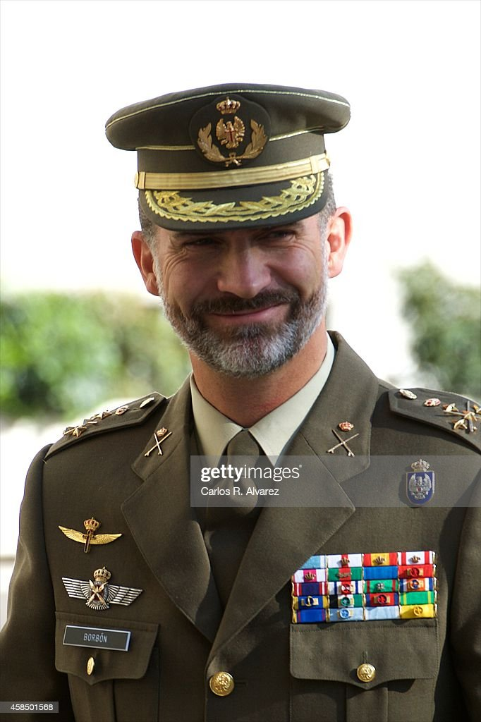 King Felipe VI of Spain visits the General Staff of Defence on November 6, 2014 in Madrid, Spain.