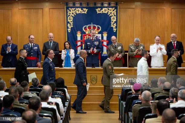 King Felipe VI of Spain visits the Higher School of The Armed Forces on June 25, 2019 in Madrid, Spain.