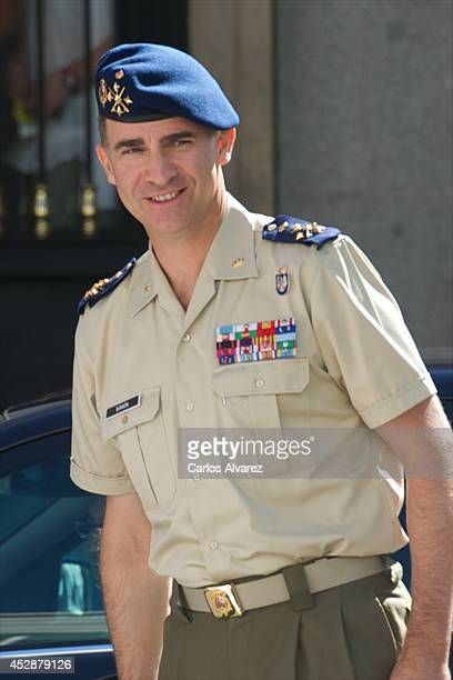 King Felipe VI of Spain visits the National Defence Staff on July 29 2014 in Madrid Spain