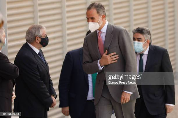 King Felipe VI on his arrival at the inauguration of the new Museum of the Roman Forum Molinete of Cartagena at the Molinete Archaeological Park, on...