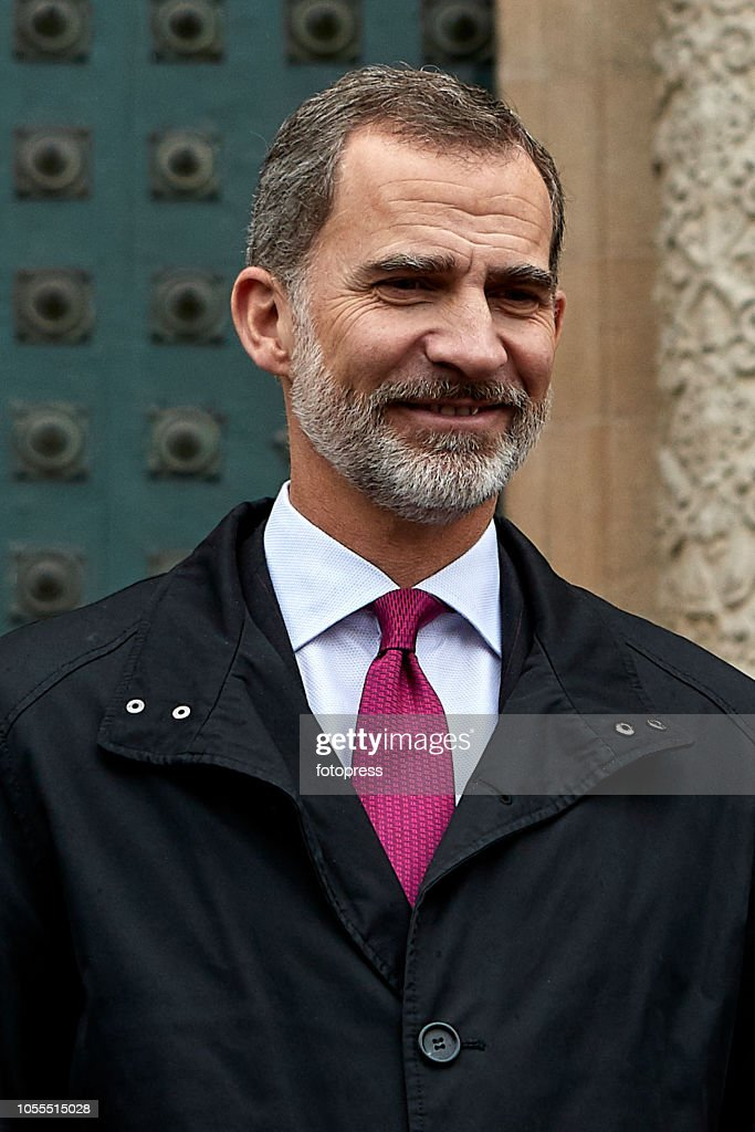 King Felipe Visits Santiago de Compostela's Cathedral After  The Completion Of The Restauration : News Photo