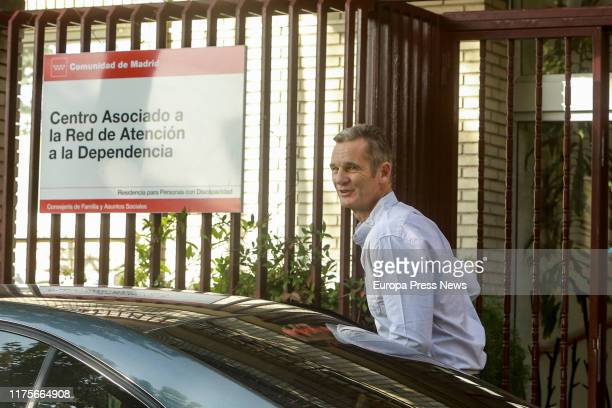 King Felipe´s brotherinlaw Iñaki Urdangarin is seen arriving to Don Orione Home in Pozuelo from prison to volunteer on September 19 2019 in Madrid...