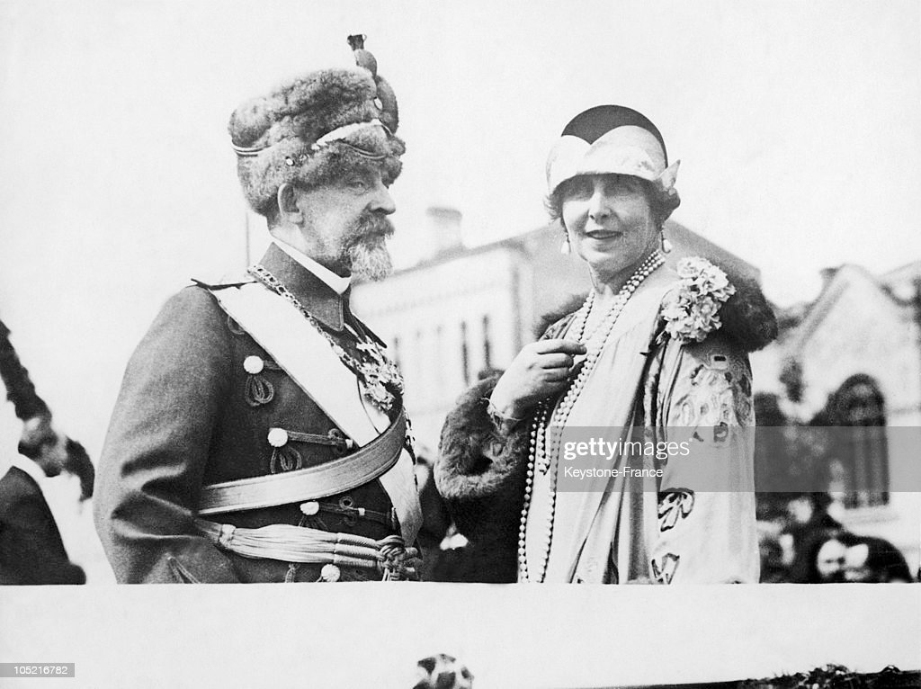 King Ferdinand 1St And His Wife Queen Marie Of Romania Between 1920 And 1925.