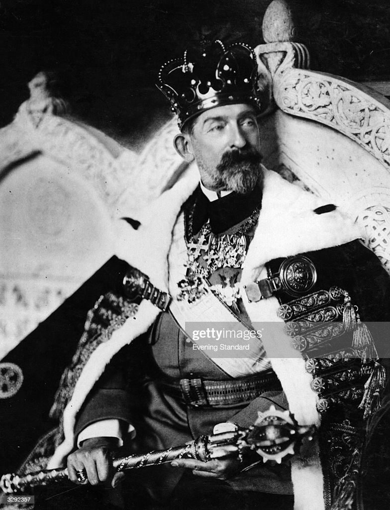 King Ferdinand I of Romania (1865 - 1927) in the year of his coronation.