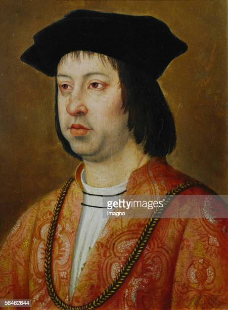 King Ferdinand II of Aragon Contemporary copy of a work by a anonymous Dutch painter the Vienna copy corresponds to that in the Windsor...