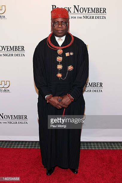 King Frank Okurakpo attends the 'Black November' film screening at The Library of Congress on February 29 2012 in Washington DC