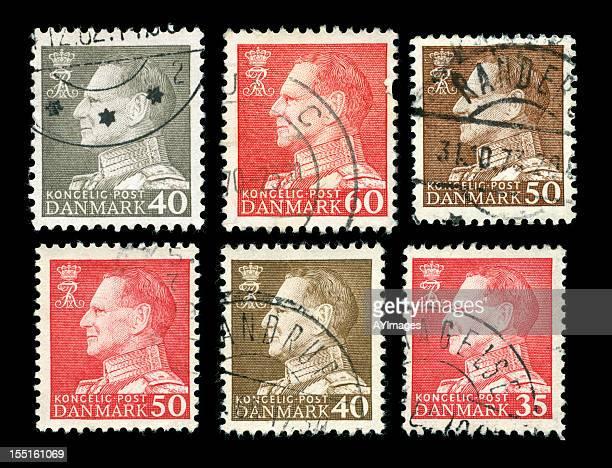 Rei Frederik IV selos da Dinamarca