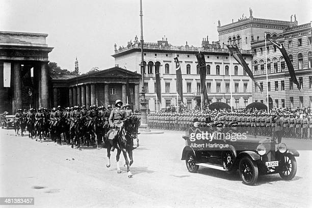 King Fuad I of Egypt during an official visit with Marshal Paul von Hindenburg Berlin on June 10 1929
