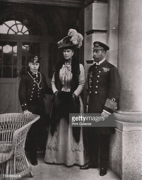 King George and Queen Mary with their son Prince Edward, May 1910. King George V and Queen Mary of Teck with their eldest son the Duke of Cornwall ....
