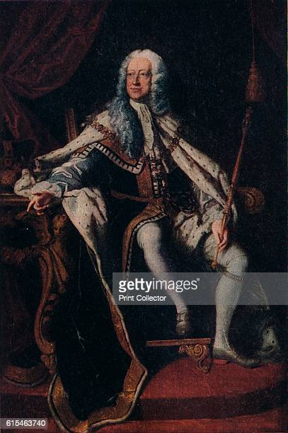 King George I', c1714, . George I was King of Great Britain and Ireland from 1 August 1714 until his death. Born in Hanover, he ascended the British...