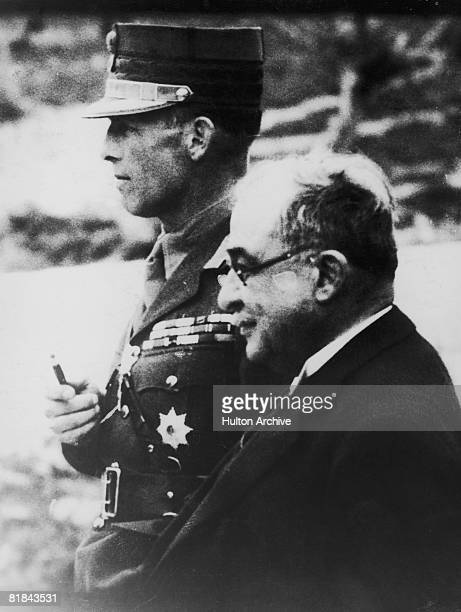 King George II of Greece with Greek Prime Minister Ioannis Metaxas 1937