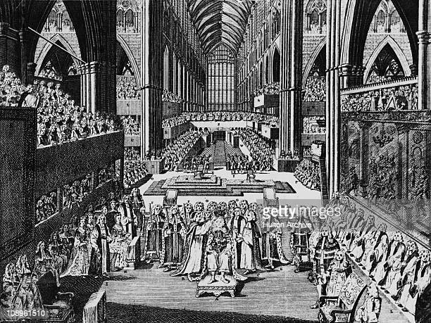 King George III is crowned at Westminster Abbey London 22nd September 1761
