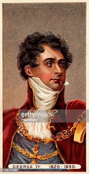 King George IV featured on a vintage cigarette card in a series of 'British Royalty' produced circa 1902