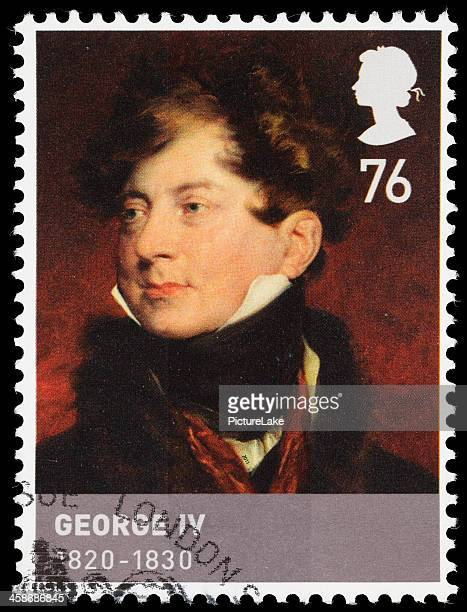 uk king george iv postage stamp - george iv of the united kingdom stock photos and pictures
