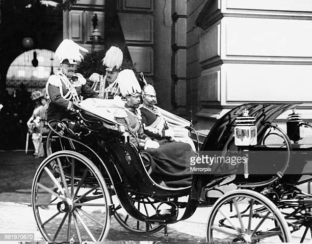 King George V and Kaiser Wilhelm II of Germany pictured during the royal visit to Berlin 28th May 1913