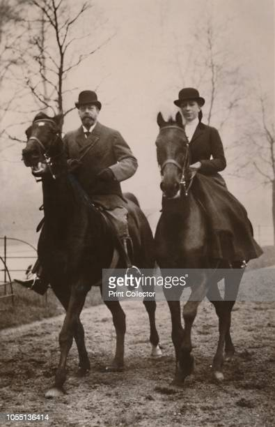 HM King George V and Princess Mary' 1914 King Geoge V and his daughter Mary Princess Royal out riding [Published 1914] Artist Rotary Photo