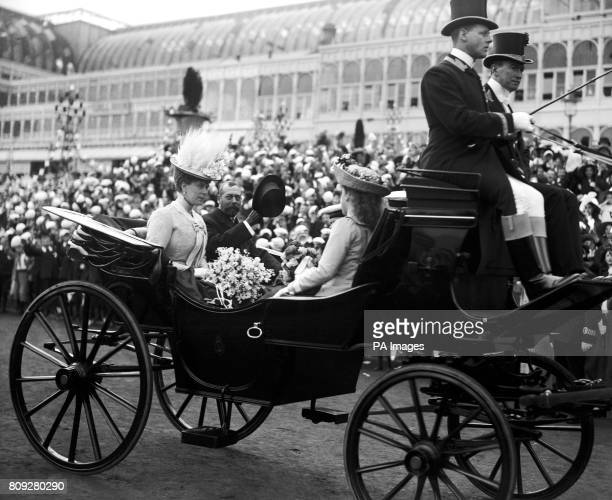 King George V and Queen Mary at Crystal Palace for a Coronation tea party