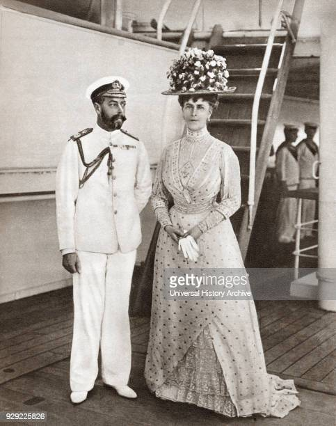 King George V and Queen Mary in 1911 on board The Medina for their visit to India George V George Frederick Ernest Albert 1865 – 1936 King of the...