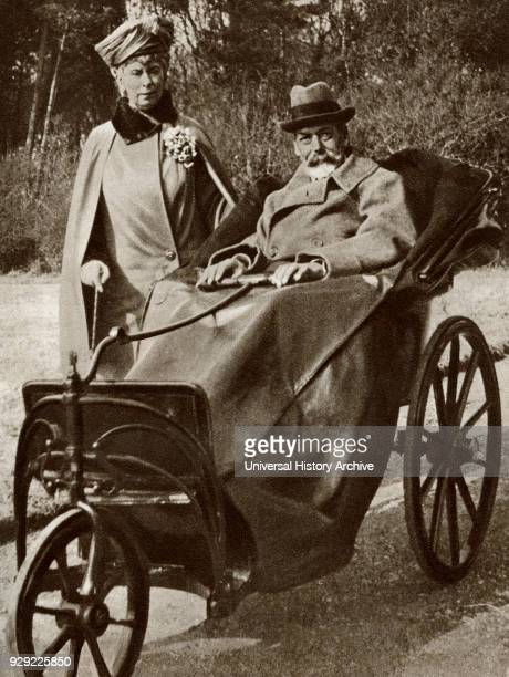 King George V and Queen Mary of Teck seen here in Bognor during his convalescence from septicaemia in 1929 From The Story of 25 Eventful Years in...