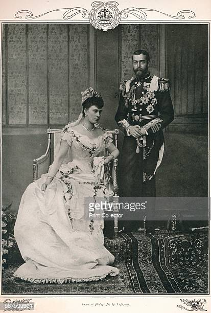 King George V and Queen Mary on their wedding day 1893 From Edward VII His Life and Times Volume II edited by Sir Richard Holmes KCVO [The Amalgated...