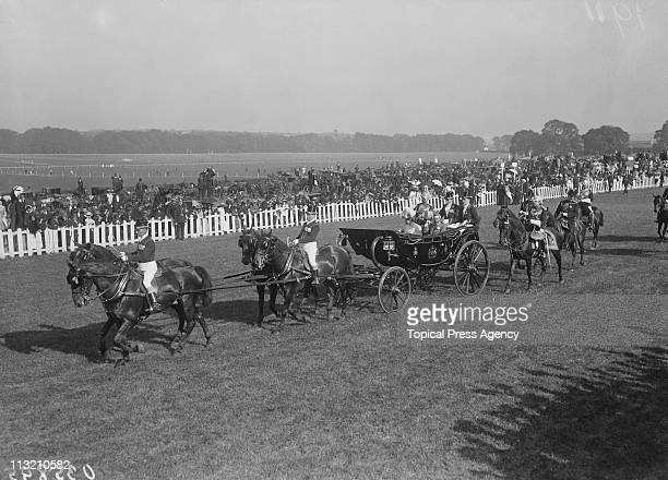 King George V and Queen Mary visit Leopardstown racecourse in Dublin during a visit to Ireland July 1911