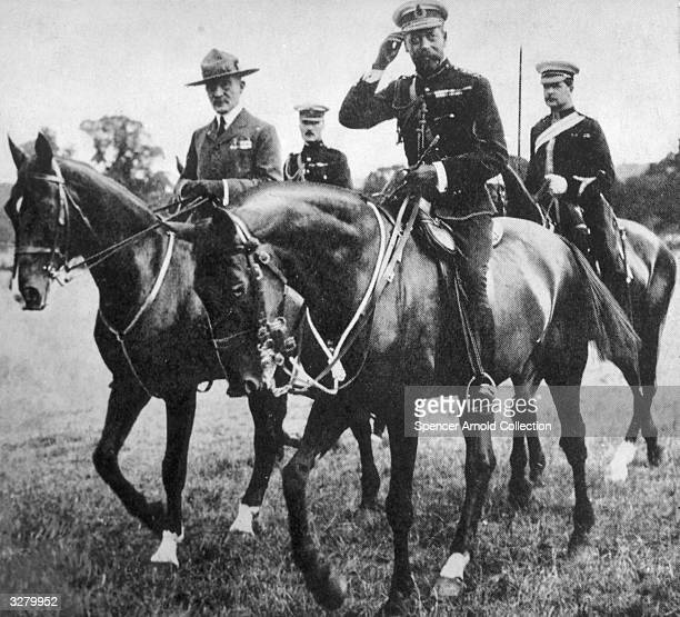 King George V and Robert BadenPowell at the Scout Rally in Windsor Park