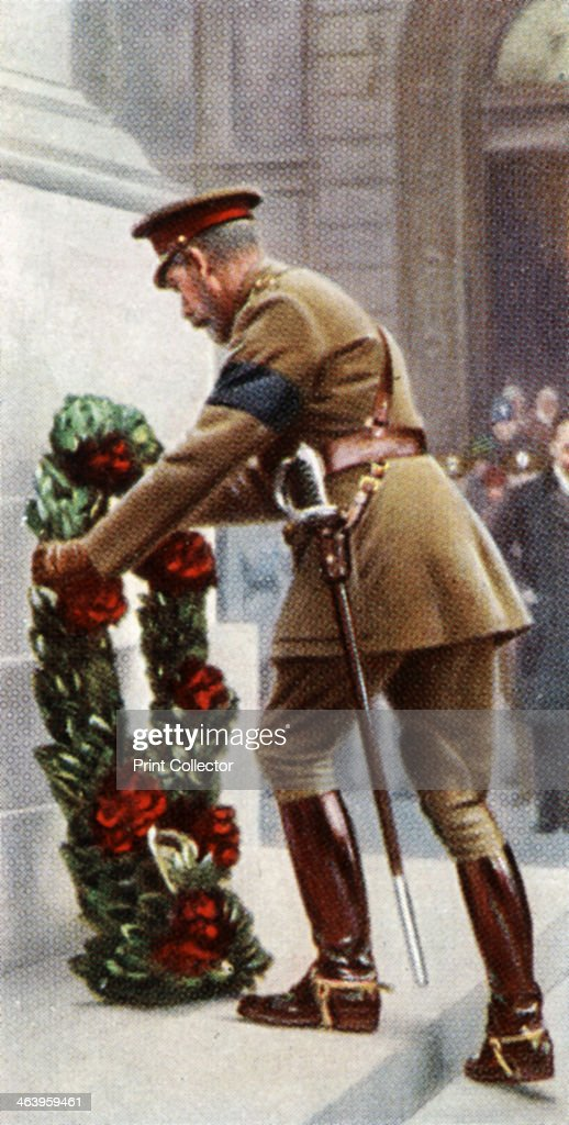 King George V at the Cenotaph, November 11th, 1920, (c1935). : News Photo
