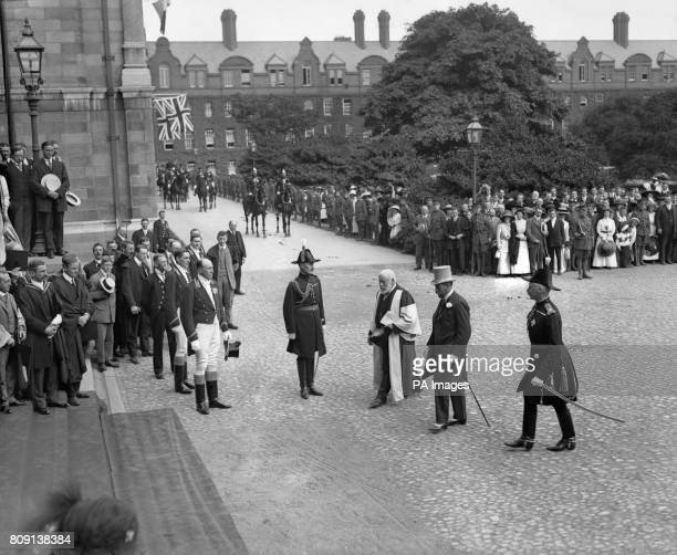 King George V at Trinity College Dublin during his visit to Ireland