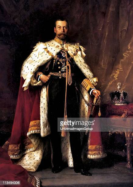 King George V in his coronation robes Sir Luke Fildes 1911