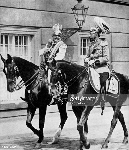 King George V of Great Britain and Kaiser Wilhelm II of Germany 1913 A print from 100 Years in Pictures A panorama of History in the Making text by...