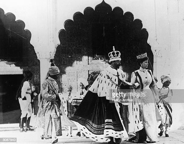King George V of Great Britain and Queen Mary at the Coronation Durbar in Delhi